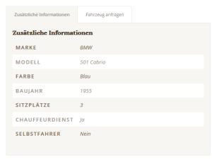 BMW 501 Details