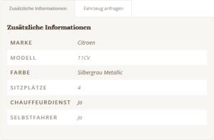 Citroen 11CV Details