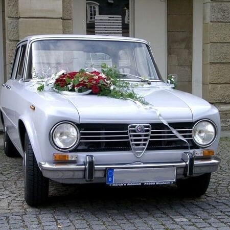 Oldtimer Hochzeitsauto Alfa Romeo