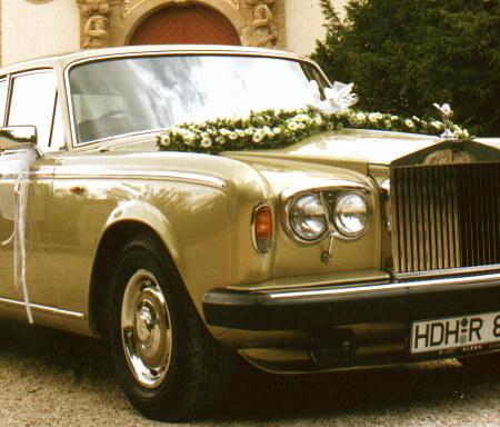 Oldtimer Hochzeitsauto Rolls Royce