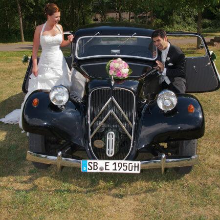 Oldtimer Hochzeitsauto Citroen