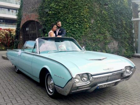Ford Thunderbird Oldtimer Hochzeitsauto