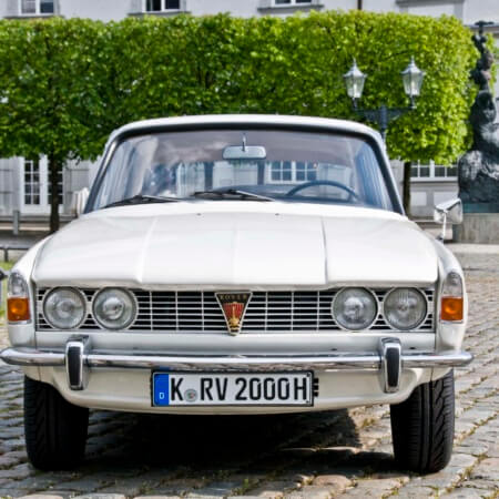 Rover Oldtimer Hochzeitsauto