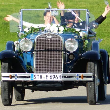 Ford A Modell Oldtimer Hochzeitsauto
