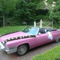 Pink Cadillac Oldtimer Hochzeitsauto