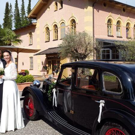 Riley Oldtimer Hochzeitsauto