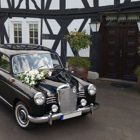 Mercedes Ponton Oldtimer Hochzeitsauto