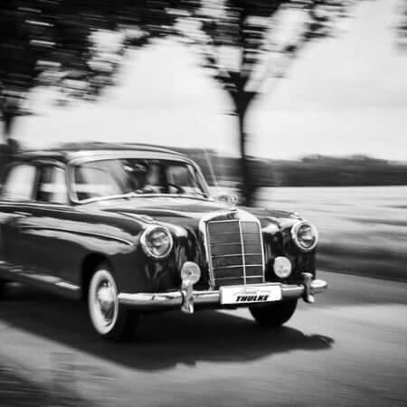 Mercedes-Benz-Oldtimer-Hochzeitsauto