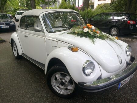 VM Käfer Cabrio Oldtimer Hochzeitsauto